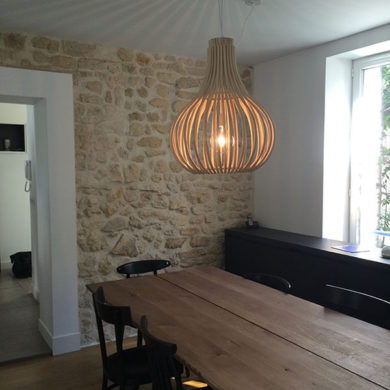 Table cuisine bois naturel
